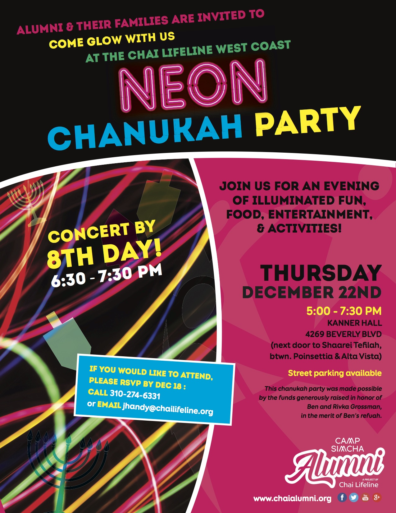 LA Alumni and LA CLL Family Chanukah Party