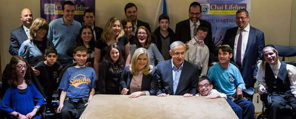 BIBI AND SARA NETANYAHU MEET WITH CHAI LIFELINE�S WISH AT THE WALL
